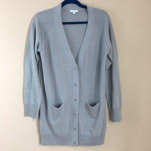 Garnet Hill 100% cashmere button up cardi size L